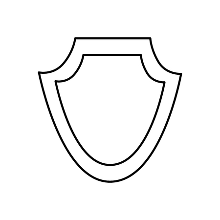 shield protection emblem empty icon vector illustration outline image