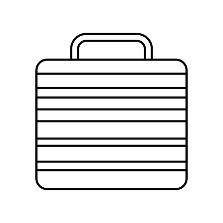 suitcase of worker people fashion vector illustration outline image