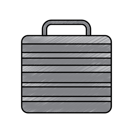 suitcase of worker people fashion vector illustration