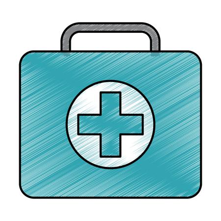 medical kit first aid emergency case vector illustration
