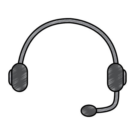 headset support helpline communication equipment vector illustration