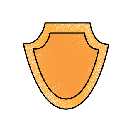 shield protection emblem empty icon vector illustration Ilustração