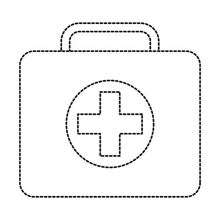 Illustrazione di vettore del caso di emergenza del pronto soccorso del kit medico Archivio Fotografico - 91436735
