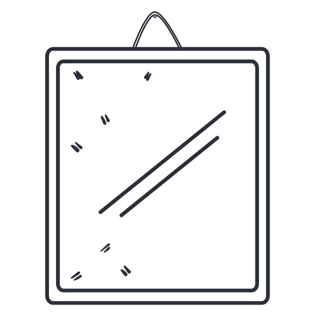 mirror hanging isolated icon vector illustration design