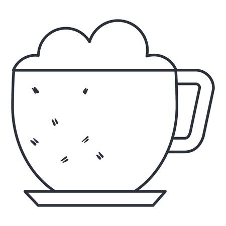 Coffee cup isolated icon vector illustration design Иллюстрация