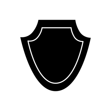 shield protection emblem empty icon vector illustration black image