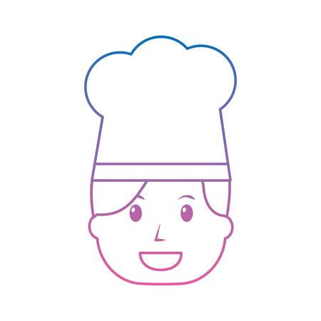 Woman wearing a chefs hat isolated on white Illustration