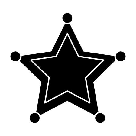 Star sheriff police insignia authority icon vector illustration black image Illustration