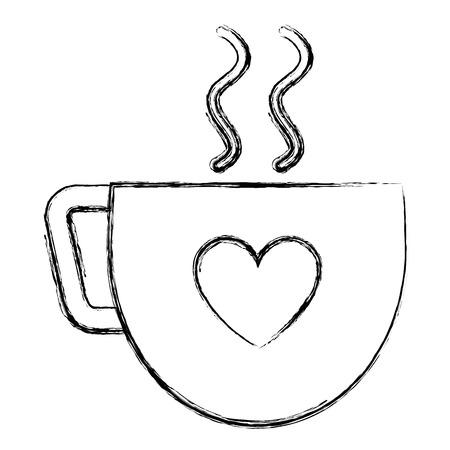 Koffiekopje met hart vector illustratie ontwerp Stockfoto - 91434531