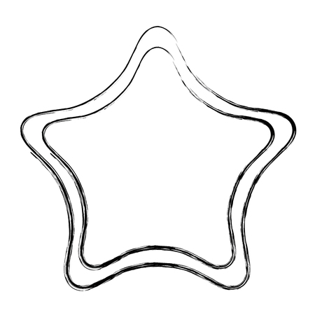 Star line icon isolated on white Illustration
