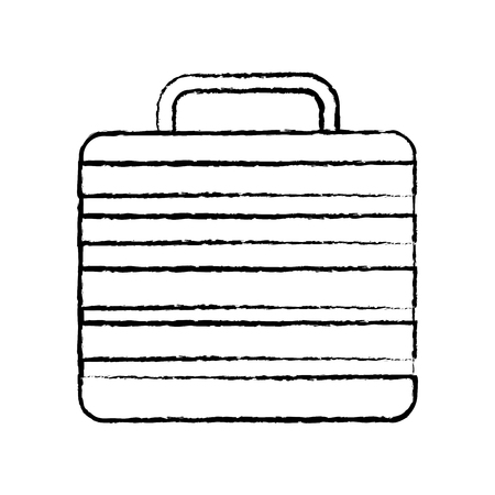 Illustration of briefcase line icon isolated on white