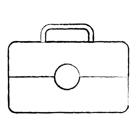business briefcase portfolio tool icon vector illustration