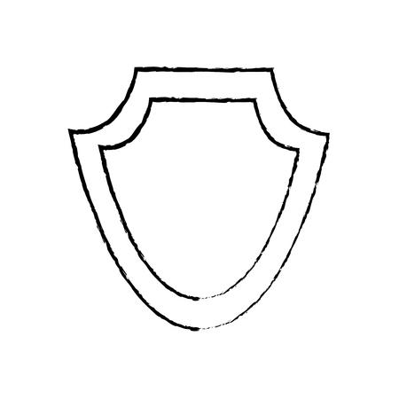 シールド保護エンブレム空アイコンベクトルイラスト