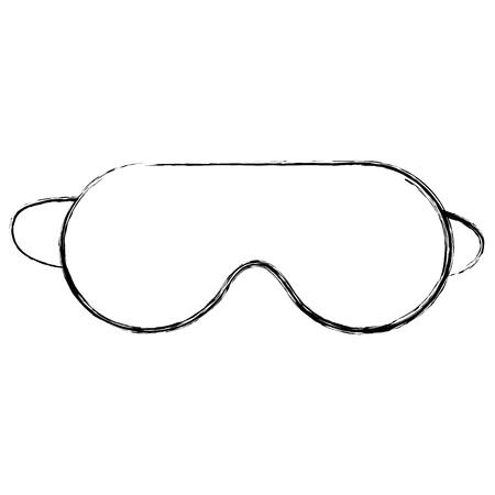 Progettazione dell'illustrazione di vettore dell'icona isolata maschera di sonno Archivio Fotografico - 91438036