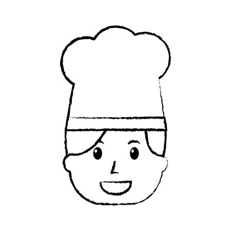 Chef femme heureux travailleur avec chapeau, illustration vectorielle. Banque d'images - 91435597