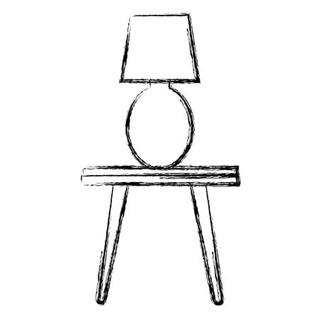 bedroom lamp in table vector illustration design