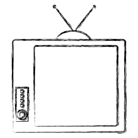 old tv isolated icon vector illustration design 版權商用圖片 - 91437375