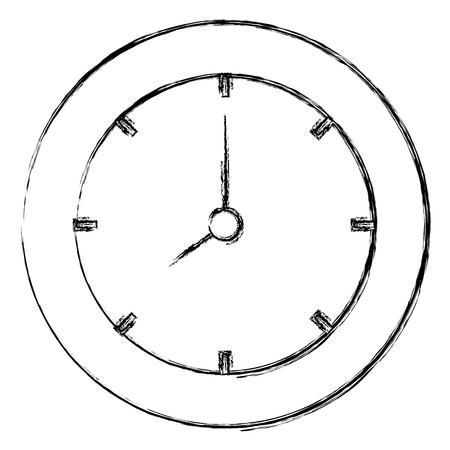 time clock isolated icon vector illustration design Illusztráció