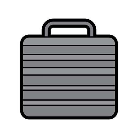 Suitcase of worker people fashion, vector illustration.