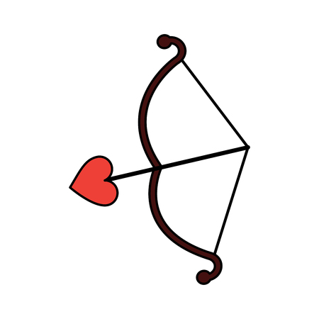 Bow and arrow, love and romantic symbol illustration.