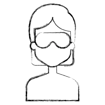 woman with sleeping mask vector illustration design Imagens - 91437434