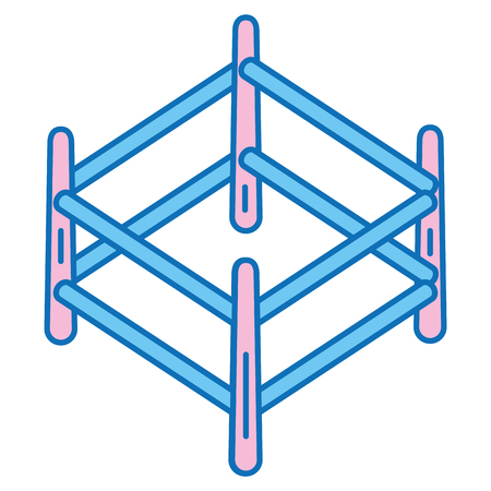 목조 목장 격리 아이콘 벡터 일러스트 디자인 스톡 콘텐츠 - 91437492