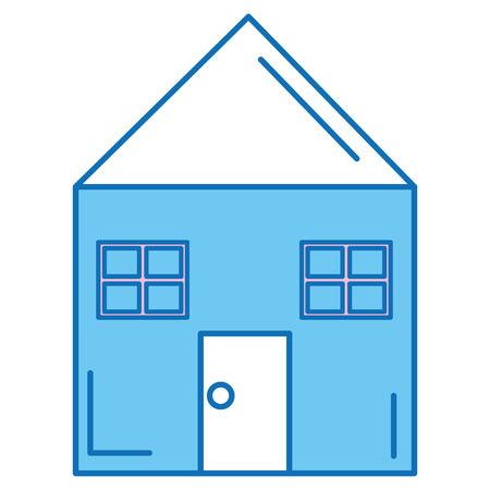 집 집 고립 된 아이콘 벡터 일러스트 레이 션 디자인