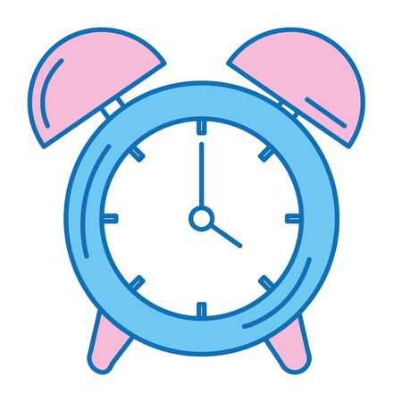 目覚まし時計分離アイコンベクトルイラストデザイン