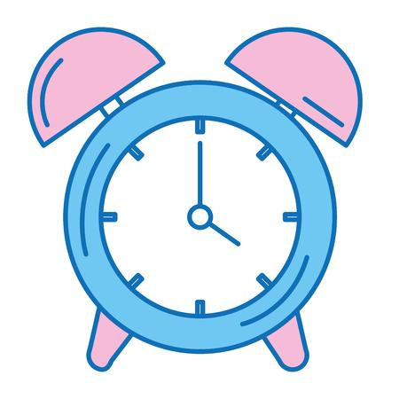 alarm tijd klok geïsoleerd pictogram vector illustratie ontwerp