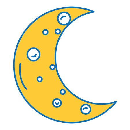 月隔離アイコンベクトルイラストデザイン