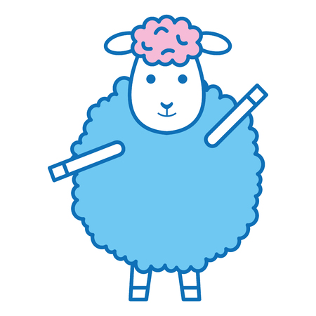cute sheep character icon vector illustration design Stock Vector - 91437664