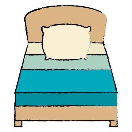 快適なベッド隔離アイコンベクトルイラストデザイン 写真素材 - 91451197