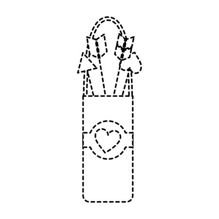 Quiver love arrows, cupid equipment illustration.