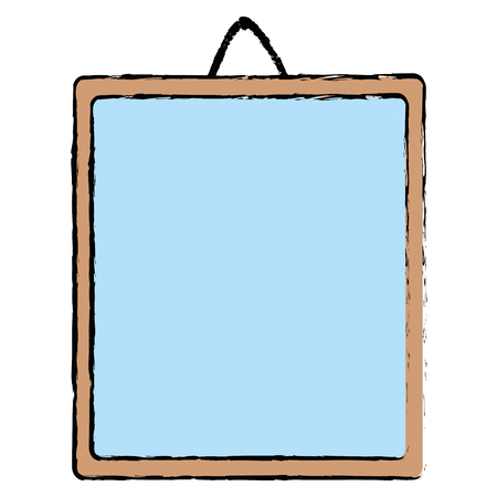Mirror hanging icon on white background, vector illustration.