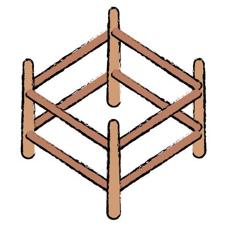 목조 목장 격리 아이콘 벡터 일러스트 디자인 스톡 콘텐츠 - 91439812