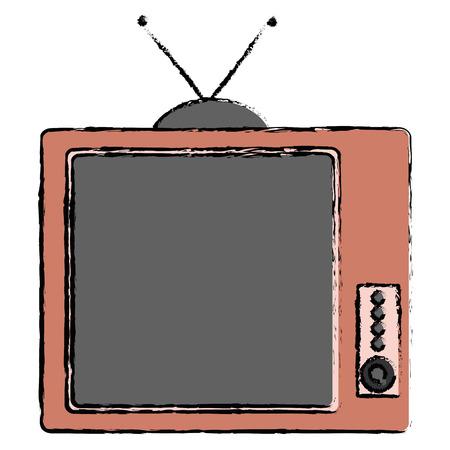 old tv isolated icon vector illustration design Reklamní fotografie - 91439928