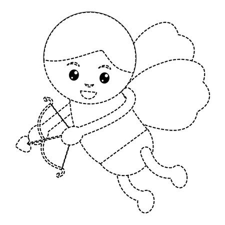 love cupid angel fly bow arrow romantic vector illustration Imagens - 91439930