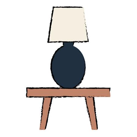 테이블 램프 벡터 일러스트 레이 션 디자인에 침실 램프 일러스트