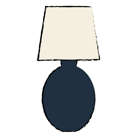 Bedroom lamp isolated icon vector illustration design Illustration