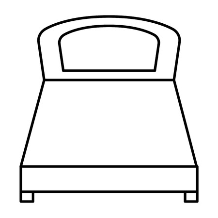 comfortable bed isolated icon vector illustration design Çizim