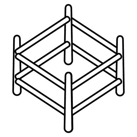 Corral en bois, conception d'icône illustration vectorielle icône isolé Banque d'images - 92186053