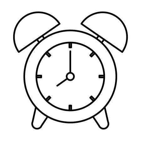 Alarm time clock, isolated icon, vector illustration design