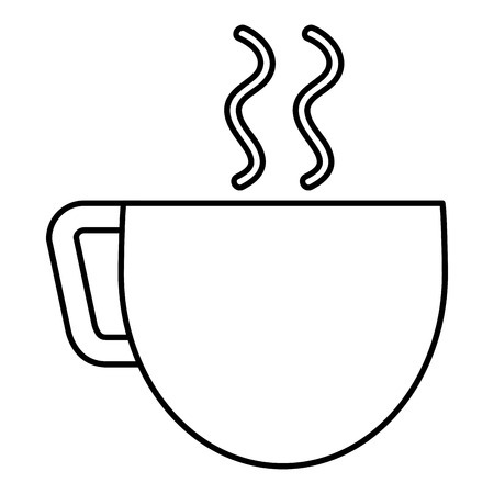 coffee cup isolated icon vector illustration design Illusztráció