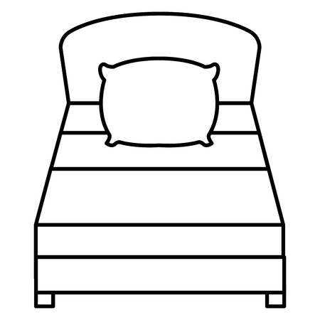 Bed isolated icon. 向量圖像
