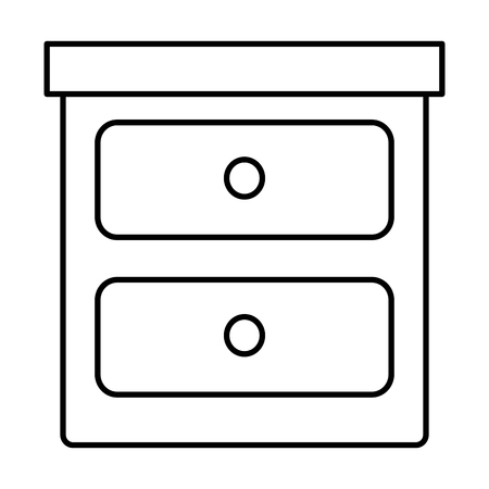 Bedroom drawer, isolated icon, vector illustration design Ilustrace