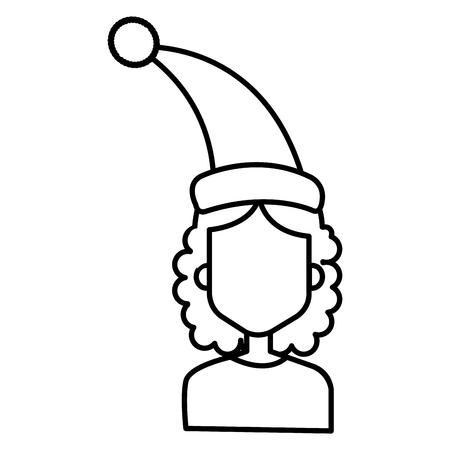 Una donna con progettazione dell'illustrazione di vettore del cappello di sonno Archivio Fotografico - 91505185