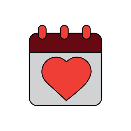 valentines day calendar vector illustration Illustration
