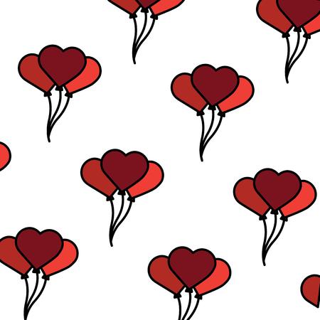 valentines balloons seamless pattern vector illustration Illustration