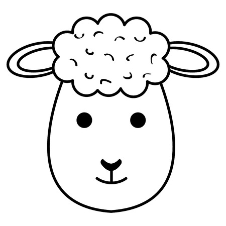 A cute sheep character icon vector illustration design Ilustrace