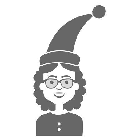 Donna con progettazione dell'illustrazione di vettore del cappello di sonno Archivio Fotografico - 91451553